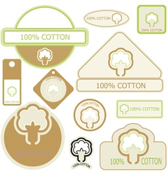 Cotton labels vector