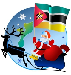 Merry christmas mozambique vector