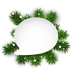 White paper speech bubble over christmas eve vector