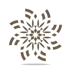 Abstract logo circle floral symbol vector