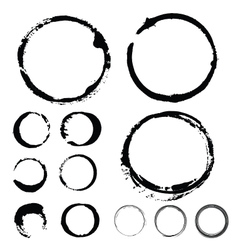Ink stains paint ring vector