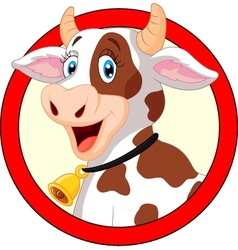 Happy cartoon cow vector