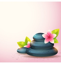 Peaceful and relaxing card with spa items vector
