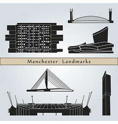 Manchester landmarks and monuments vector