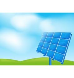 Solar panel on a blue sky vector
