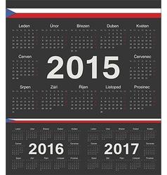 Black czech circle calendars 2015 2016 2017 vector