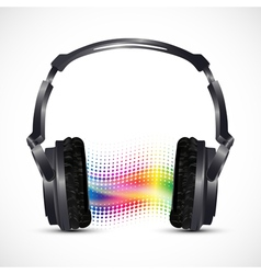 Musical headphones vector