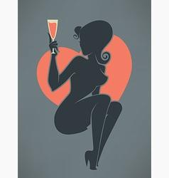 Drinking girl vector