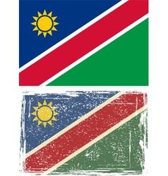 Namibia grunge flag vector