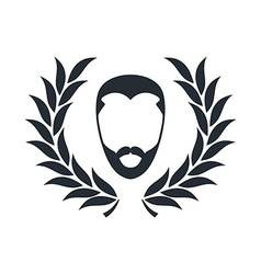 Hipster guy with wreath vector