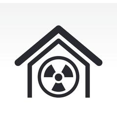 Radioactive icon vector