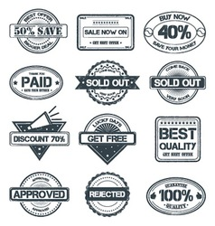 Selling rubber stamp vector