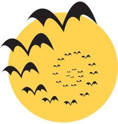 Moon bats vector