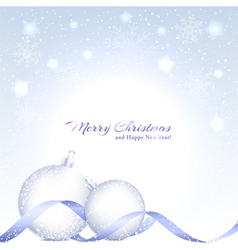 Christmas background with sparkling crystal ball vector