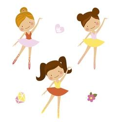 Cute ballerinas vector