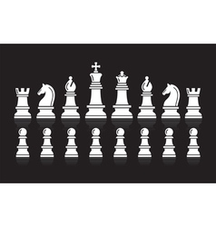 Chess icons vector