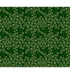 Abstract oriental seamless background in green and vector