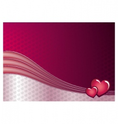 Love and hearts background vector