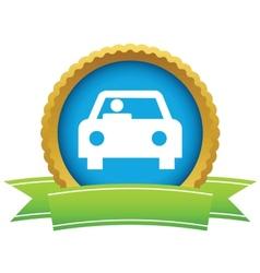 Gold car logo vector