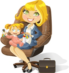 Business mom vector
