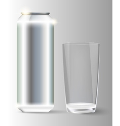 Metal with a glass jar vector