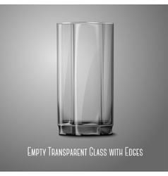 Realistic glass isolated on gray transparent for vector