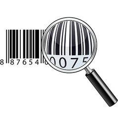 Glossy magnifying barcode vector