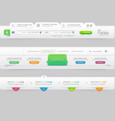 Business website template infographic design menu vector