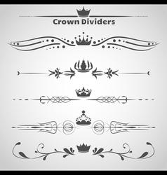 Crown dividers set copy vector