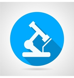 Circle icon for microscope vector