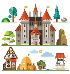 Medieval kingdom element vector