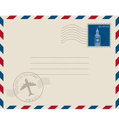 Stamp mail vector