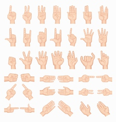 Collage of hands vector