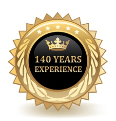 Hundred forty years experience badge vector