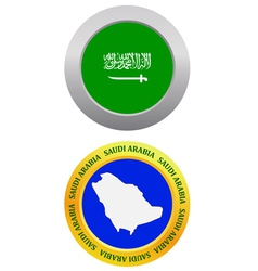 Button as a symbol saudi arabia vector