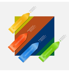 Arrow infographic on multicolor background vector