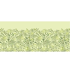 Textured bushes horizontal seamless pattern vector