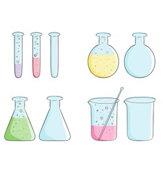 Laboratory test tubes vector