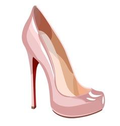Elegant pink shoe vector