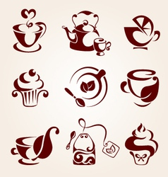 Tea elements set vector
