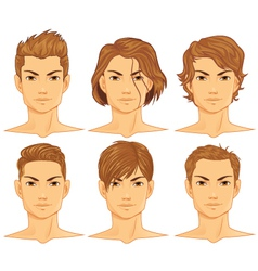 Male hairstyle vector