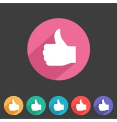 Flat game graphics icon thumbs up vector