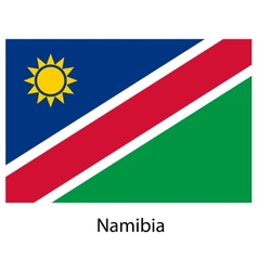 Flag of the country namibia vector