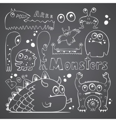 Collection of monsters vector