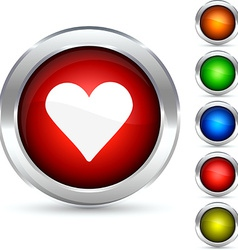 Love button vector