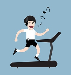Healthy running man vector