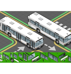 Isometric bus in front view vector