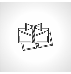 Black line icon for gift envelopes vector
