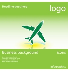 Plane business background vector
