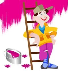 Handyman cartoon vector